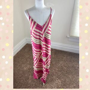 ASOS Pink Tan spaghetti strap Maxi Dress Size 4